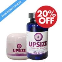 HOT Combo Viên uống Upssize Pills và Kem nở ngực Upsize Breast Cream