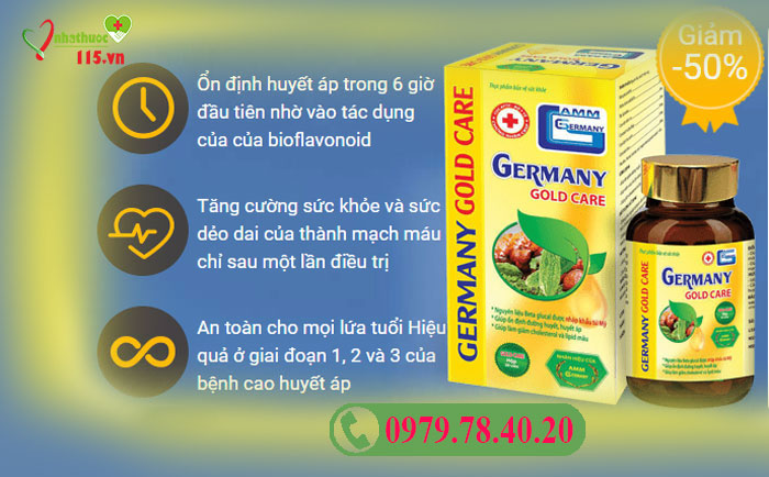 công dụng của germany gold care